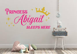 48 Custom Personalized Name Princess Sleeps Here Wall Etsy