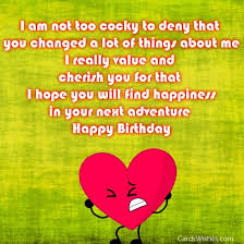 quotes for ex birthday wishes for exboyfriend cards wishes