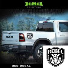 Amazon Com Ram Rebel 2x Bed Truck Decal Sticker Matte Black Or Choose Color Clothing