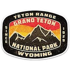 Amazon Com Grand Teton National Park Wyoming Vintage Style Vinyl Decal Sticker 3 75 Automotive