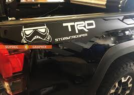 Pair Of Trd 4x4 Off Road Pro Sport Star Wars Stormtrooper Edition Bed Side Vinyl Decals Graphics Sticker Kit For Toyota Tacoma All Years