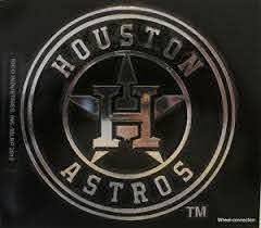 Houston Astros Mlb Vinyl Window Decal Chrome Baseball Logo Licensed Sticker 94746398309 Ebay