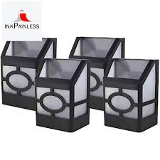 Solar Led Wall Mount Fence Post Lights 2 Modes Warm White Rgb Color Changing Decorative Light For Outdoor Deck Patio Stairs Yard Pack Of 4 Shopee Philippines