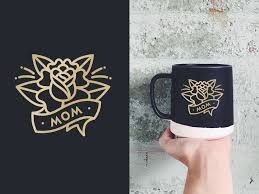 Mom Tattoo Mug By Laura Bohill For Ghostly Ferns On Dribbble