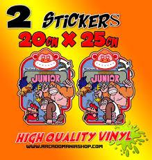 Donkey Kong Jr Vinyl Stickers Arcadomania Shop