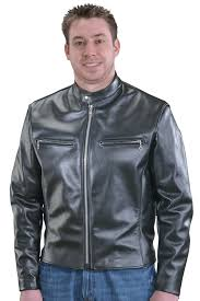 leather biker motorcycle jacket