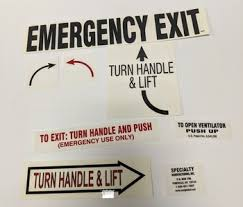 Signage And Decals Vinyl Decals Decals Emergency Exit Page 1 Unity School Bus Parts