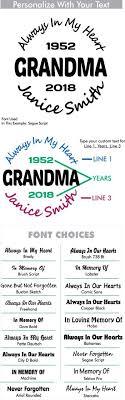 Grandma Custom Memorial Die Cut Vinyl Car Decal Designer Series Decals In Loving Memory Car Window Decals