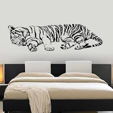 Large Size Vinyl Wall Decal Tiger Sleeping Jungle Africa Predator Cool Interior Decor For Living Room Decoration Wish
