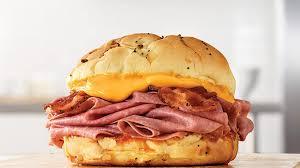 bacon beef n cheddar sandwich