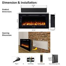 recessed electric fireplace wall