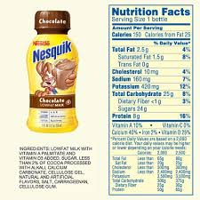 what s inside nesquik chocolate milk