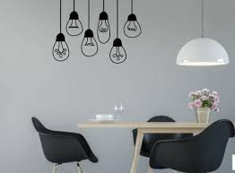 Hanging Light Bulb Wall Decals Kitchen Stickers Whimsidecals