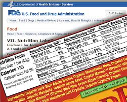nutrition facts label for a package