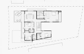 second floor plan of modern house with