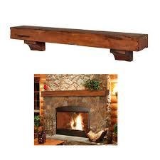 fireplace mantel shelf rustic