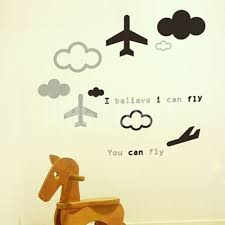 Wall Decals Wall Stickers Airplane Fly