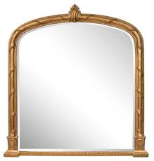 antique gilded overmantle mirror for