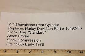 new rear cylinder harley davidson 74