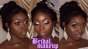 how to do bridal makeup for black skin