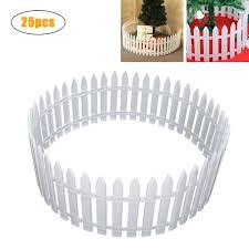 25pcs Set White Plastic Picket Fence Flexible Home Garden Christmas Xmas Tree Decoration Shopee Philippines