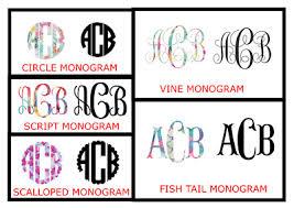Custom Vinyl Monogram Decal Car Decal Tumbler Decal Personalized Waterbottle Ebay