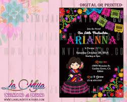Birthday Fiesta Invitations First Birthday Mexican Theme