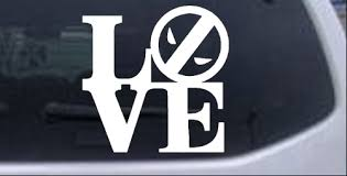 Love With Deadpool Car Or Truck Window Decal Sticker Rad Dezigns