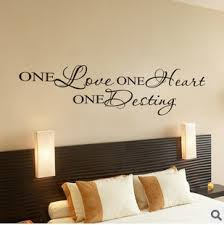One Love One Heart Quote Wall Art Removable Vinyl Wall Sticker Decal Home Decor Wish