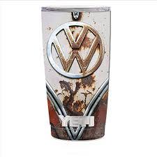Amazon Com Skin Decal Vinyl Wrap For Yeti 20 Oz Rambler Tumbler Cup Skins Stickers Cover Vw Bus Rust Split Window Van Kitchen Dining