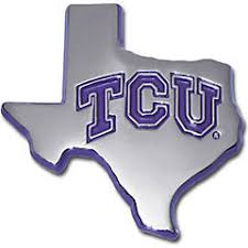 Texas Christian University License Plate Frames Car Decals And Stickers