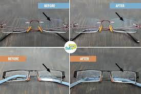 how to remove scratches from glasses