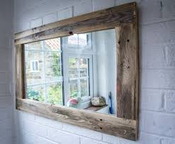 mirror made from reclaimed pallet wood