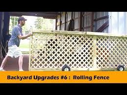 Rolling Fence Gate Diy Backyard Upgrades 6 Youtube