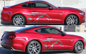 Steed Side Vinyl Decal Kit For 2015 2016 2017 Mustang Pfyc