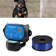 In Ground Dog Fence System Focuspet Outdoor Invisible Electric Wired Dog Fence 655ft Remote Electronic Dog Fence Kit Rechargeable Waterproof Receiver Collar Beep Tone Shock For Small Large Dog Buy Products Online With