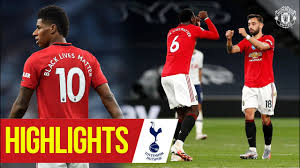 Highlights | Manchester United 1-1 Tottenham Hotspur | Fernandes strikes |  Premier League 19/20 - YouTube