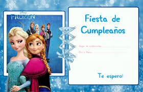 Invitaciones De Frozen Todo Peques