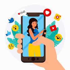 Concepto de teléfono móvil de marketing en redes sociales con emoticones | Vector Gratis
