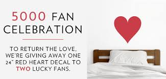 5000 Facebook Fan Celebration Wallums Com Wall Decor