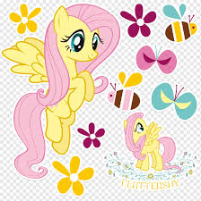 Pony Rainbow Dash Rarity Fluttershy Wall Decal My Little Pony Color Sticker Mural Png Pngwing
