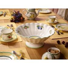 french garden fleurence footed bowl