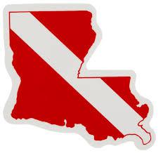 Louisiana State Dive Flag Sticker Shop709 Com