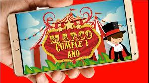 Circo Video Tarjeta Invitacion Digital Cumpleanos Whatsapp