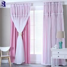 Sunnyrain 1 Piece Double Layer Luxury Curtain Bedroom Blackout Curtains Kids Room Window Curtains Living Room Drape Customizable Curtains Aliexpress