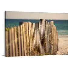 Shop Sand Dune Fence On Beach Canvas Wall Art Overstock 16480104