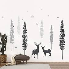 Timber Artbox Nursery Wall Decal Dreamy Forest With Pine Tree Anima Walldecals Com