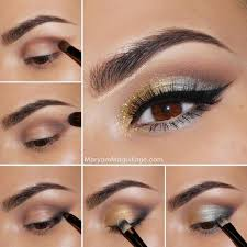 silver and gold eye makeup pictures