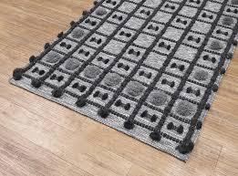 wool rug gray woven mat striped