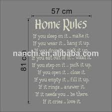 home rules wall sticker english quotes home decor vinyl art